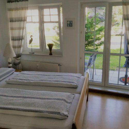 Eltern-Schlafzimmer unserer Ferienwohnung auf Usedom